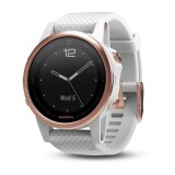 Garmin Fenix 5 S Sapphire Rose Goldtone with White Band